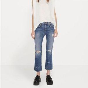 NWT R13 Kick Distressed Indigo blue Jeans Italy